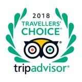 Vector bien escogido del icono del logotipo de Tripadvisor de 2018 viajeros - servicio popular con el grado de hoteles y de atrac ilustración del vector