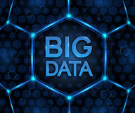 Vector BIG DATA background. Visual abstract concept. Royalty Free Stock Photography