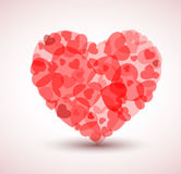 Vector Big heart made from smaller hearts Royalty Free Stock Photography