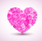 Vector Big heart made from smaller hearts Stock Image