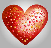 Vector big heart made from smaller hearts Royalty Free Stock Photo