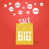 Vector big sale promotion discount background Royalty Free Stock Image