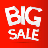 Vector Big Sale Sticker - Label Stock Images