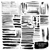 Vector Big Set of brushes ink Stock Photo