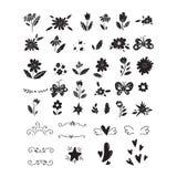 Vector big set of clipart black on white royalty free illustration