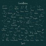 Vector big set constellation Stock Image