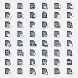 Vector big set Document File icons Stock Photos