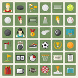 Vector big sports icon set Royalty Free Stock Photography