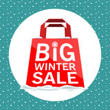 Vector. Big winter sale Stock Photos