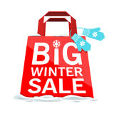 Vector. Big winter sale Royalty Free Stock Image