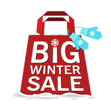 Vector. Big winter sale Royalty Free Stock Photo