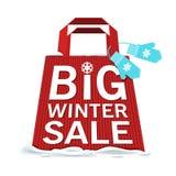 Vector. Big winter sale stock illustration