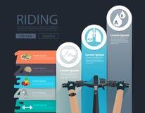 Vector bike infographic banner design Stock Images