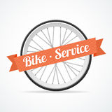 Vector bike service card Royalty Free Stock Photography