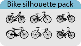 Vector bike silhouettes Stock Photos