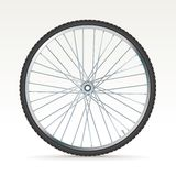 Vector bike wheel Stock Photo