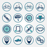 Vector biking icon set Royalty Free Stock Image