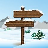 Vector bilboard in winter forest Stock Photo
