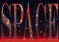 Vector Bild des nächtlichen Himmels mit Sternen und Galaxien Lizenzfreies Stockbild