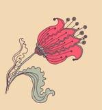 Vector Bild einer Blume in der Weinleseart Stockfotos
