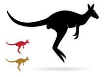 Vektorbild eines Kängurus Stockbild