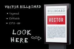 Vector Billboard Royalty Free Stock Photography