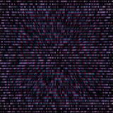 Vector binary code abstract background. Vector anaglif style color warped binary code decorative abstract dark background Vector Illustration