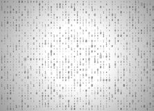 Vector binary code white background. Big data and programming hacking, decryption and encryption, computer streaming black numbers Royalty Free Stock Photography