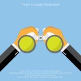 Vector binocular icon. Vector binocular flat icon illustration stock illustration