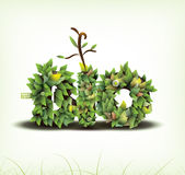 Vector. Bio concept design eco friendly Stock Photography