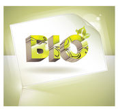 Vector Bio concept design eco friendly Royalty Free Stock Images