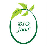 Vector bio food logo and symbol. Vector bio food logo and symbol Royalty Free Stock Photography