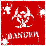 Vector biohazard icon red and white Stock Photography