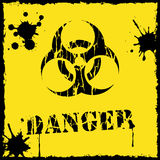 Vector biohazard icon yellow and black. File format eps 10 Stock Photography