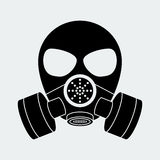 Vector biohazard mask white Royalty Free Stock Photos
