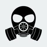 Vector biohazard mask white. Format eps 10 Royalty Free Stock Photos
