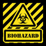 Vector biohazard sign yellow and black Stock Photography