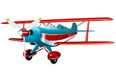 Vector Biplane Stock Images