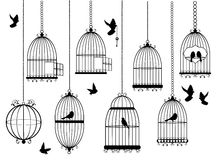 Vector Bird Cages Stock Photos