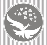 Vector bird frame Royalty Free Stock Images