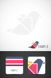 Vector bird icon and business card templates Royalty Free Stock Photos