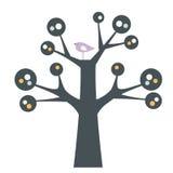 Vector bird and tree Stock Photos