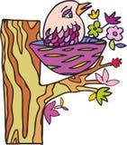 Vector bird on the tree Stock Photography