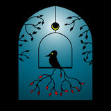 Vector Bird In a Window Stock Images