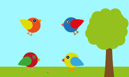 Vector birds background Stock Photo