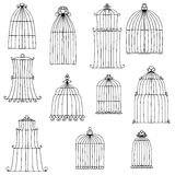 Vector birds cages Stock Photo