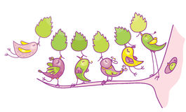 Vector birds cartoons. Royalty Free Stock Images