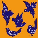 Vector of birds Paper-cut vector illustration
