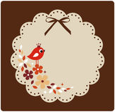 Vector birds xmas card Stock Image