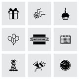 Vector Birthaday icon set Royalty Free Stock Photography
